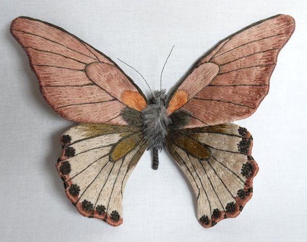 Butterflies, textile art by Yumi Okita