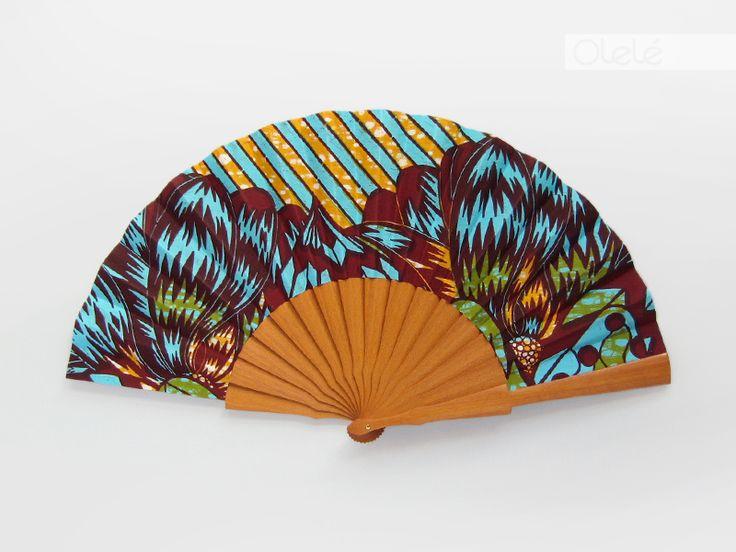 Éventail de haute qualité en bois - accessoire mariage africain - par Olele sur Afrikrea, €48.00