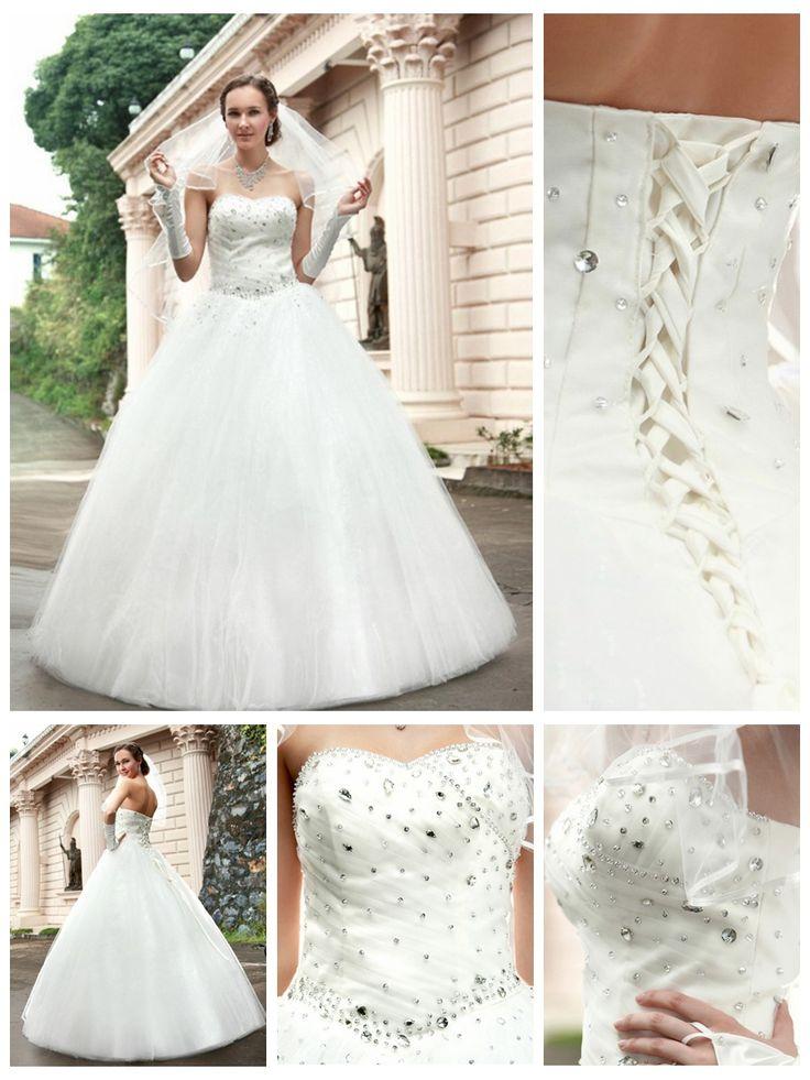 Elegent Floor-length winter wedding dresses