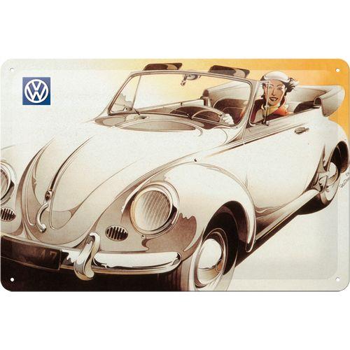 Nostalgic-Art Blechschild 20x30cm 'VW Cabrio'