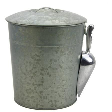 Better homes and gardens galvanized steel ice bucket with for Galvanized well bucket