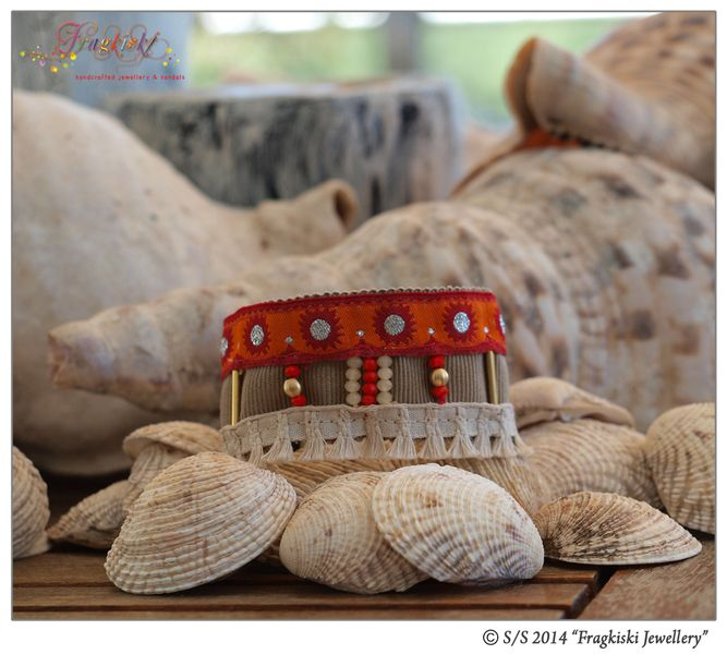 Lace, Tassels & Beads Boho Cuff Bracelet from Fragkiski Jewellery & Sandals by DaWanda.com