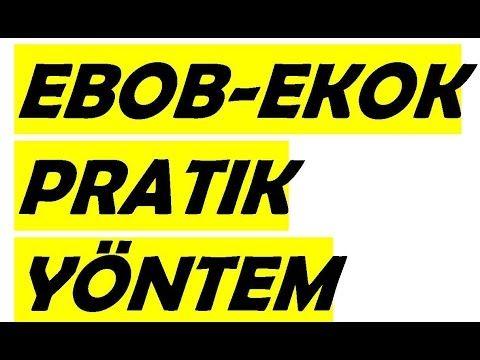 EBOB - EKOK Konu Anlatımı Yeni Müfredat 2016 - 2017 Yeni Konu Anlatımı - YouTube