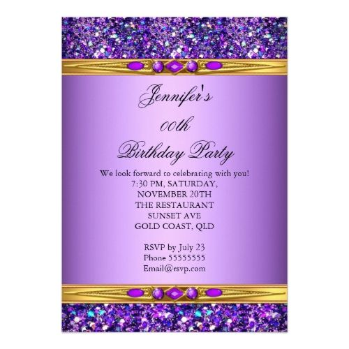 Best Glitter Birthday Party Invitations Images On Pinterest - Birthday invitation gold coast