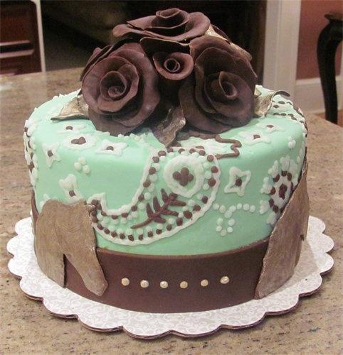 Horse Paisley Cake