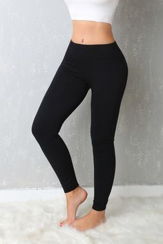 FREE SHIPPING OVER $75 & FREE RETURNS ON US ORDERS You don't have to sacrifice comfort for style as long as this Leggings are around! These super soft stretch knit leggings have an elastic, banded wai