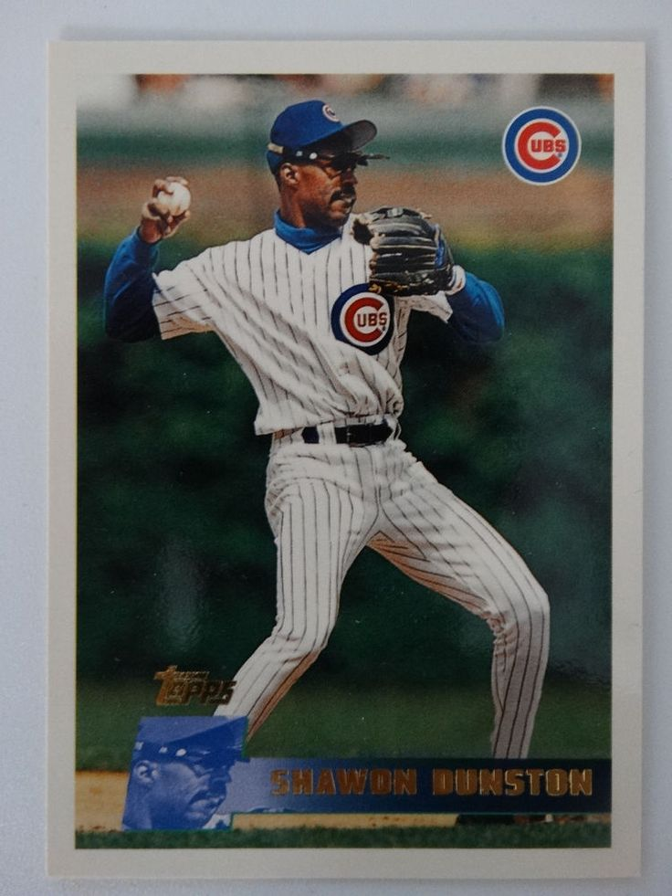 1996 Topps #399 Shawon Dunston Chicago Cubs Baseball Card #ChicagoCubs
