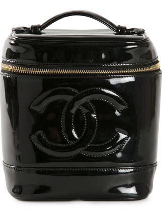 77d60a14397b Chanel Vintage Logo Embossed Cosmetic Bag - Bella Bag - Farfetch.com ...