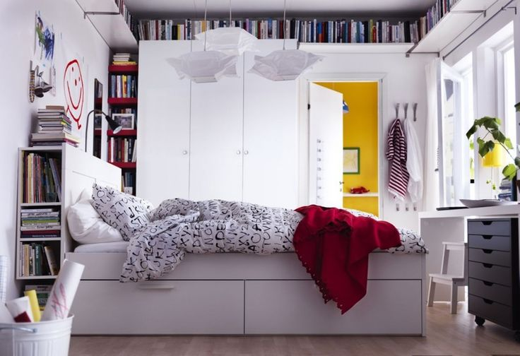 Znalezione obrazy dla zapytania mala sypialnia