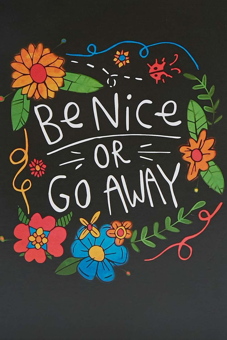 Be Nice or Go Away Card