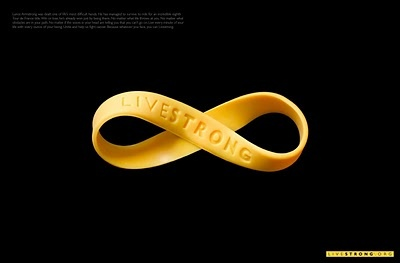 I like the figure eight...infinity and it's important in our fight against cancer...don't stop until we cure all forms of cancer