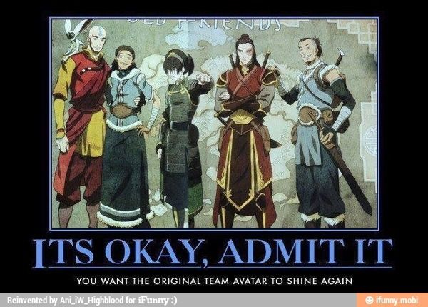 except they're all dead... except Katara and Zuko and Toph...>>>>MIDDLE AGE THEM