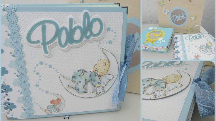 Álbum de fotos bebé niño ( Dayka - First Edition) - Scrapbooking