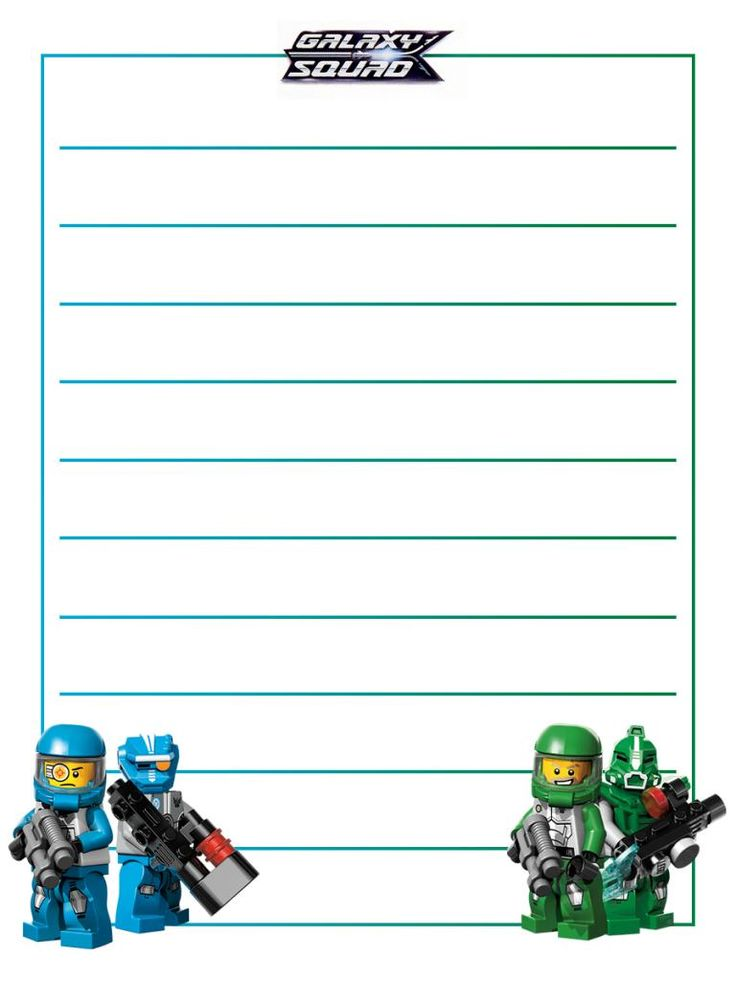 """LEGO Galaxy Squad - Blue & Green - Project Life Journal Card - Scrapbooking. ~~~~~~~~~ Size: 3x4"""" @ 300 dpi. This card is **Personal use only - NOT for sale/resale** Logo/Clipart/minifigs belong to LEGO. ***Click through to photobucket for more versions of this card :) ***"""