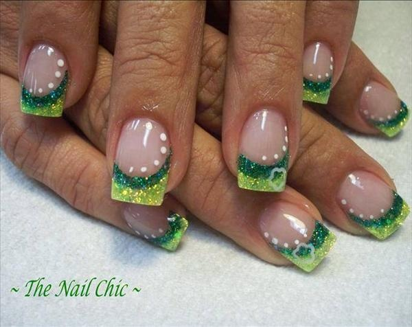 st patty's day nail idea....haven't decided how I fully feel about this.