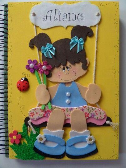 Caderno decorado Más