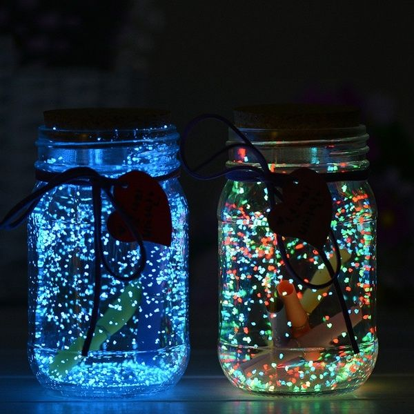 Fish Tank Noctilucent Sand Night Luminous Dark Bright Glow Fluorescent Particles