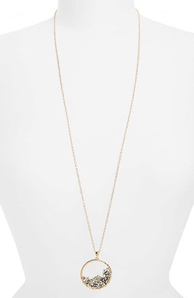 Free shipping and returns on Panacea Beaded Circle Pendant Necklace at Nordstrom.com. Shimmering beads and a hammered goldtone pendant stand out on a long chain necklace that's perfect for layering or stand-alone wear.