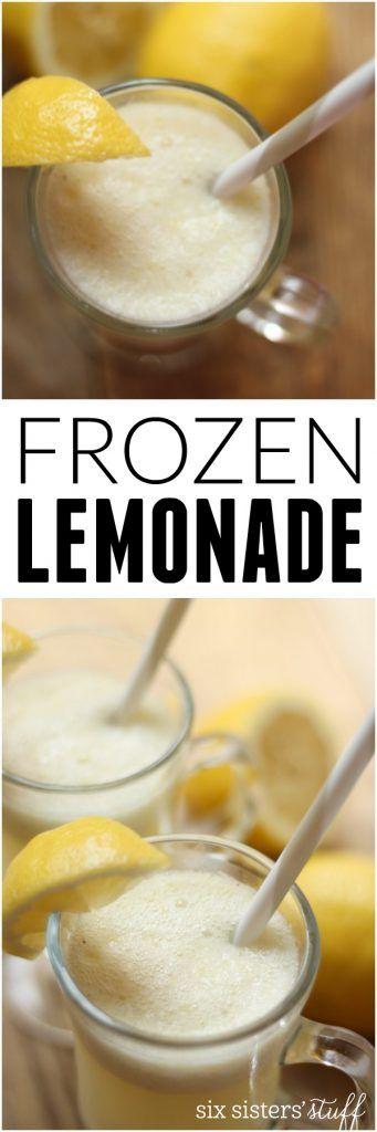 Frozen Lemonade Recipe on Six Sisters' Stuff