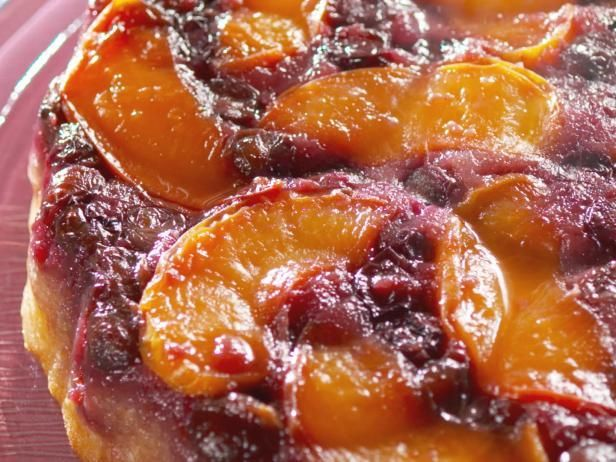 Get Nancy Fuller's Fresh Peach and Blueberry Upside-Down Cake Recipe from Food Network