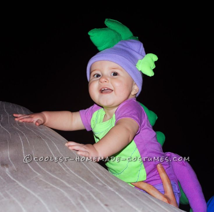 Cheap and Cute Mom and Baby Costume: Twilight Sparkle and Baby Spike the Dragon...