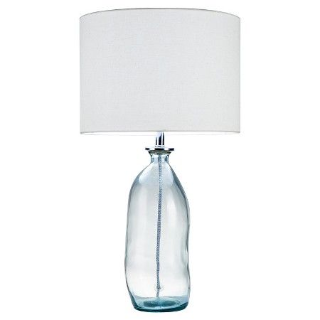 """Recycled Glass Lamp - Blue - Threshold™ : 25.2 H x 13.78 W x 14""""D hwww.target.com/p/recycled-glass-lamp-blue-threshold/-/A-50306172"""
