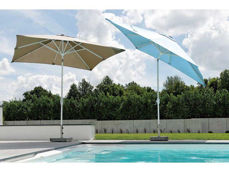 stern sonnenschirm aluminium wei bezug naturgrau 250x250. Black Bedroom Furniture Sets. Home Design Ideas