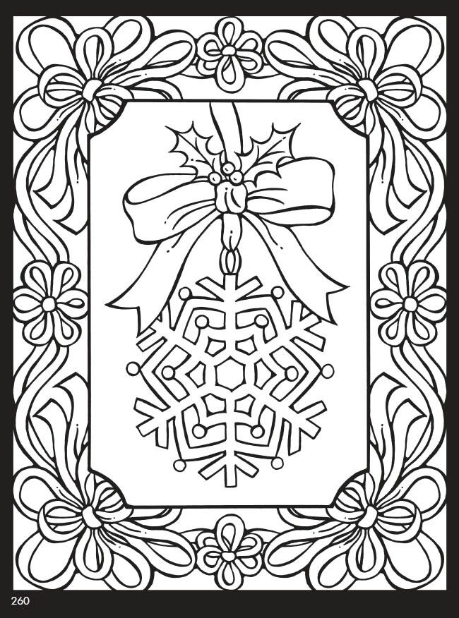 Snowflake coloring page