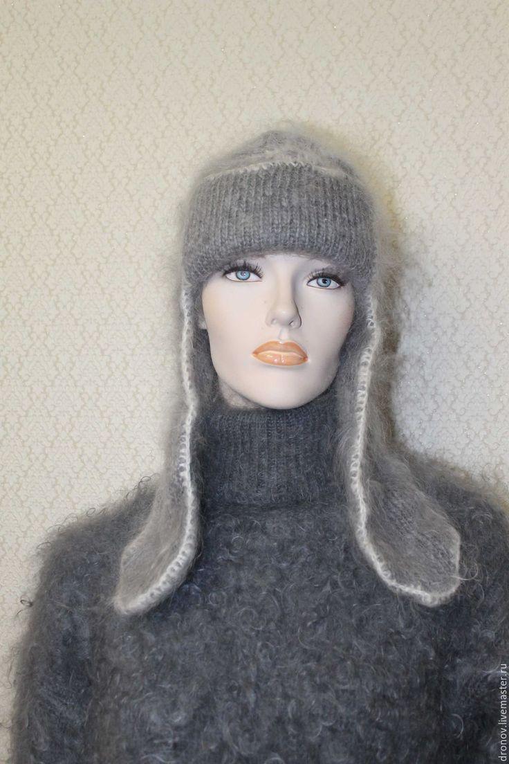 модели шапок вязаных спицами схема зимнее