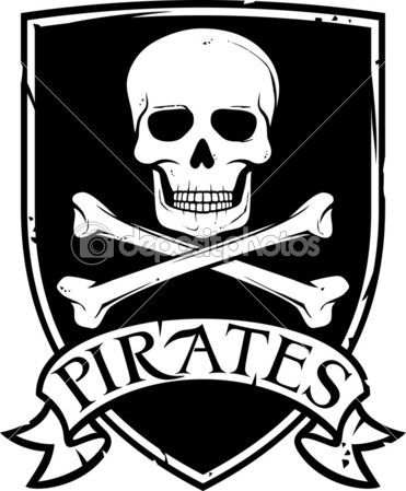 Пиратский флаг вектор (jolly roger пиратский флаг с черепом и Креста костей) — стоковая иллюстрация #26979653