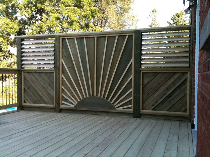 17 best images about deck ideas on pinterest canada for Metal privacy screens for decks