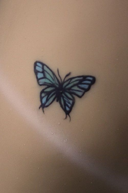 Small Blue Butterfly Inspiration Tattoo