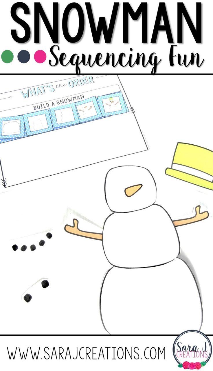 Snowman Sequencing FREEBIE