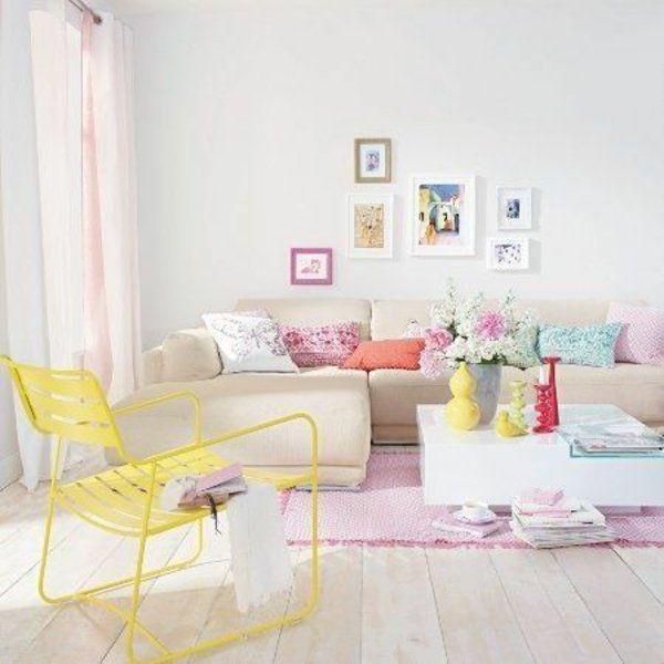 Die besten 25+ gelbe Stühle Ideen auf Pinterest Schlafzimmer - wohnzimmer rot gelb