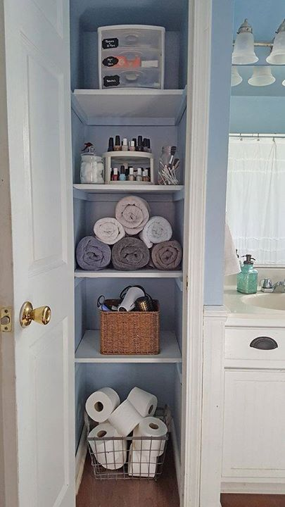 Looking to organize your bathroom closet then take this for some  inspiration. Top 25  best Organizing small closets ideas on Pinterest