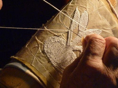 Making burano lace, originates in a small town off the coast of Venice