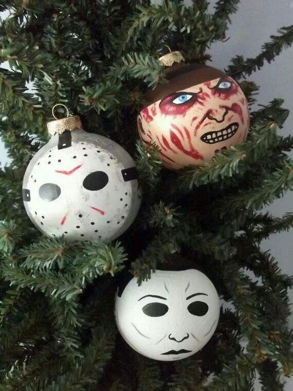 halloween themed hand painted ornaments halloween christmas - Halloween Christmas Decorations