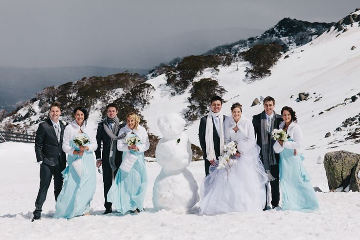 Wedding party group photos. Snowman as an extra grooms men :) Image: Cavanagh Photography http://cavanaghphotography.com.au