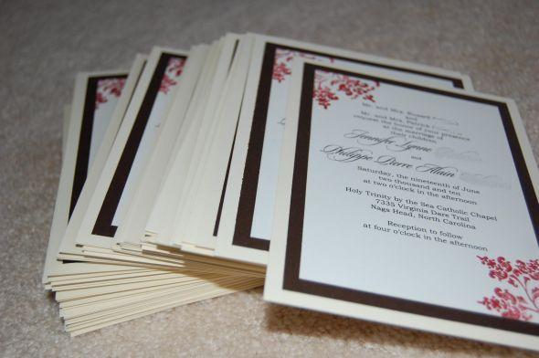 Simple Homemade Wedding Invitations: My DIY Wedding Invitations Simple Diy Wedding Invitations