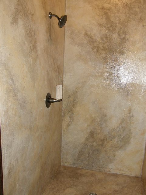 Concrete Shower by Impressive Restorations by Impressive Restorations, via Flickr