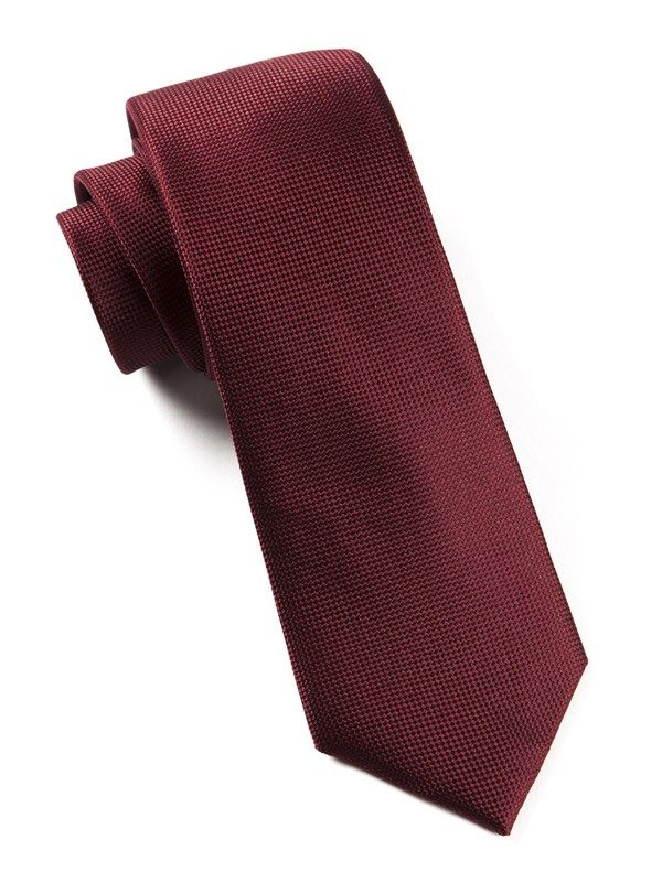 SOLID TEXTURE TIES - BURGUNDY | Ties, Bow Ties, and Pocket Squares | The Tie Bar