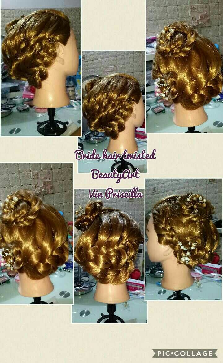 Bride hair twisted style