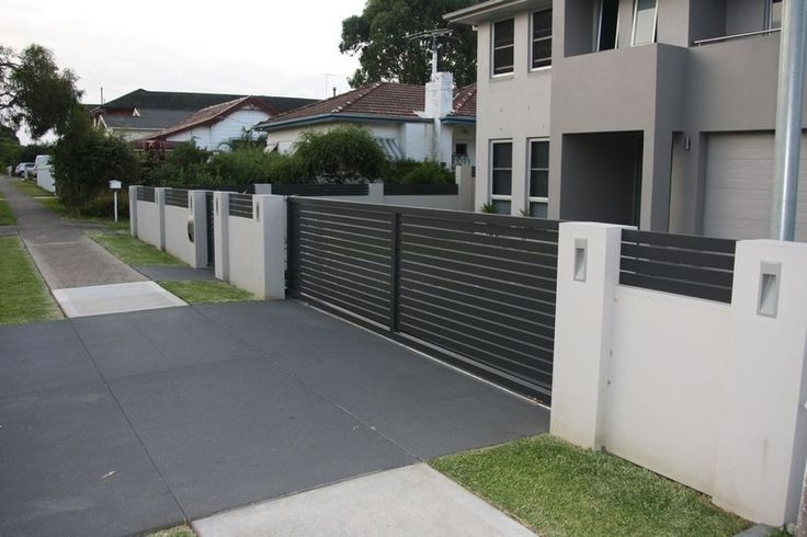 Park Boundary Wall Design : Letterboxes and lighting modular walls boundary