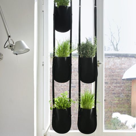 Hanging plant bags - perfect for the kitchen window