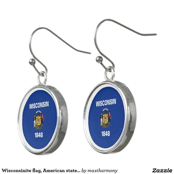 Wisconsinite flag, American state flag Earrings