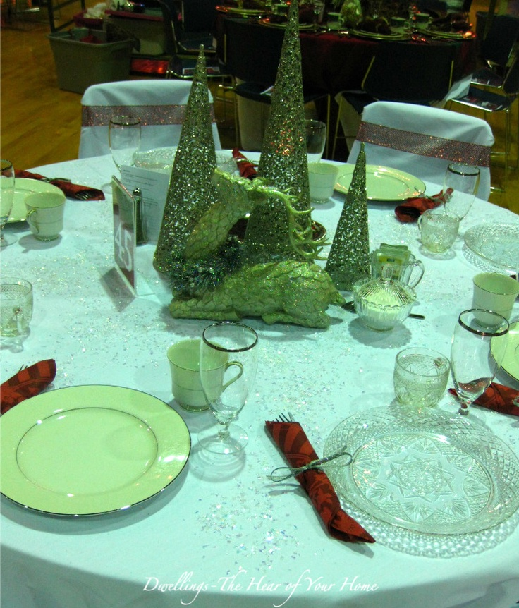 Christmas tea tablescape finale