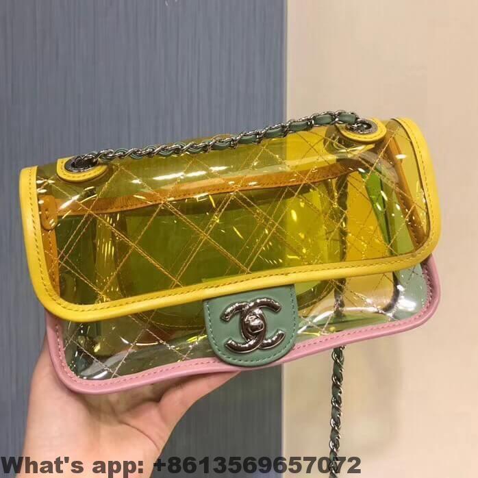 f120c9637a5a Chanel PVC Coco Splash Mini Flap Bag A57048 2018