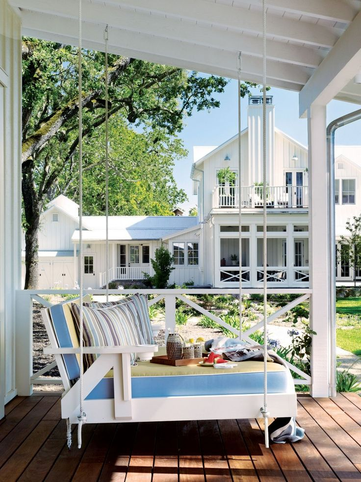 Architect Stephen Willrich's concept: Celebrate the outdoors. He designed porches, terraces, decks, verandas and secret perches.