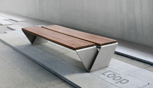 very snazzy outdoor Bench | adamchristopherdesign.co.uk