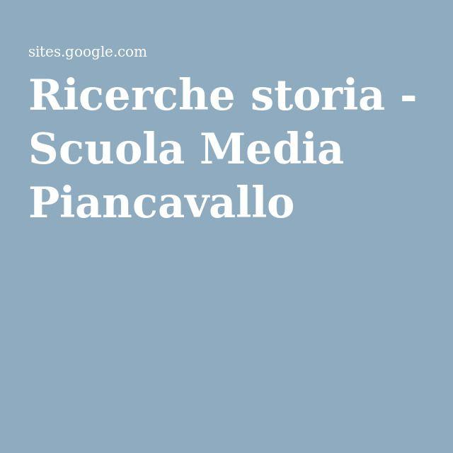 Ricerche storia - Scuola Media Piancavallo